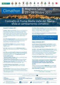 Climathon, Il CdF Media Valle del Tevere sfida il cambiamento climatico, Programma
