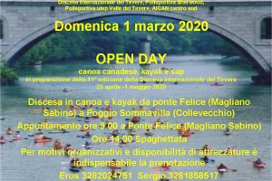 Open Day canoa canadese, kayak e sup